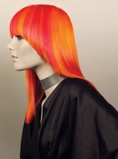 .orange and yellow hair color