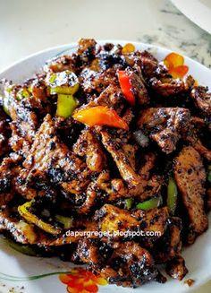 Dapur Greget: Daging babi Lada hitam (Black Pepper Pork Stir Fri...
