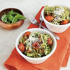 This pesto is also delicious over seared chicken with a piece of fresh mozzarella melted over the top. Heavenly! If you'd like to use...