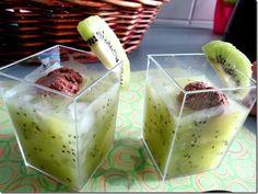 Dessert: Zespri Kiwi Ice-Blended with ice-cream