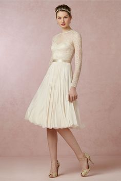 Waterfall Dress from BHLDN  --- nice one for reception, after ceremony dress.