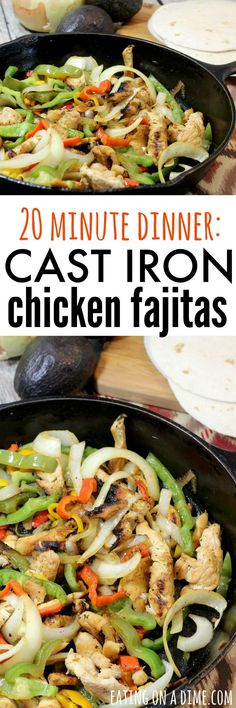 Dinner doesn't have to be difficult - make this Quick Skillet Chicken Fajitas Recipe - your family will love it!