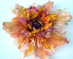 fiberluscious - Tutorials manipulating fabric flowers ** lovely site **