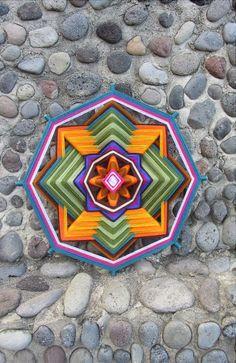 Mandala Art Ojo de Dios 8 sided19.68 inch by KalinamMandalaArt