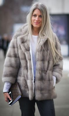 NEW YORK, NY - FEBRUARY 08: Sarah Harris is seen wearing a jacket from Lilly e Violetta and jeans from Paige on the Streets of Manhattan on February 8, 2014 in New York City. (Photo by Timur Emek/Getty Images)