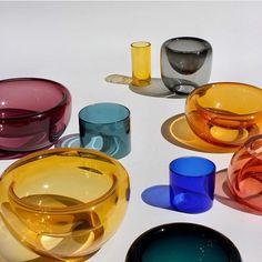 Glass colors love by studiomilenakling studio_hausen . Summer Sun, Glass Design, Home Accents, Colored Glass, Home Deco, Home Accessories, Pottery, Studio, Instagram
