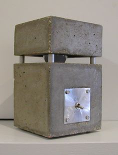 Concrete Lamp by paquin15 on Etsy, $290.00