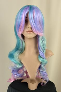 Candy Striper - Harmony - Perfect for Princess Celestia cosplay Beauty Art, Beauty Hacks, Hair Beauty, Cosplay Hair, Cosplay Wigs, Mermaid Makeup, Mermaid Hair, My Little Pony Costume, Dying Your Hair