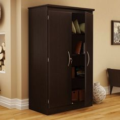 Cherry 2-Door Cabinet Wardrobe Armoire for Bedroom/Living Room/Home Office - Quality House