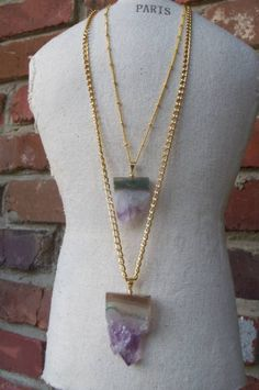 Rare Amethyst Druzy Sliced Pendent by NVboutique on Etsy, $22.00