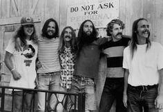 "Ozark Mountain Daredevils in  1975 left: Buddy Brayfield, John Dillon, Larry Lee, Mike ""Supe"" Granda, Randle Chowning, Steve Cash"