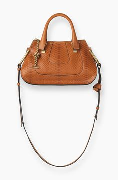 Chloe Hayley Small Double Carry Bag in Caramel Python