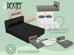 Sims 4 Objects New Meshes Mod Furniture, Sims 4 Cc Furniture, Bedroom Furniture, Furniture Design, Sims 4 Tsr, Sims Cc, Sims 4 Game Mods, Sims Games, Sims Mods