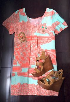 Wedges and that style dress!