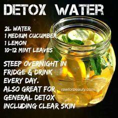 Detox Wasser für jeden Tag.  #detox http://www.fitreisen.de/entschlacken-urlaub/detox-hotel.html