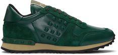 Valentino: Green Rockrunner Sneakers   SSENSE