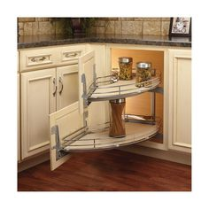 home decor storage solutions Curve 2 Tier Right-Handed Blind Corner Cabinet Organizer Curve Two-Tier Right-Handed Blind Corner Organizer Kitchen Room Design, Kitchen Corner, Kitchen Cabinet Design, Kitchen Redo, Home Decor Kitchen, Rustic Kitchen, Interior Design Kitchen, Kitchen Furniture, Home Kitchens
