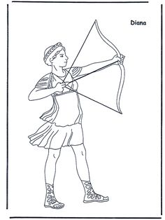 Greek God Goddess Coloring Pages With Brief Write Ups