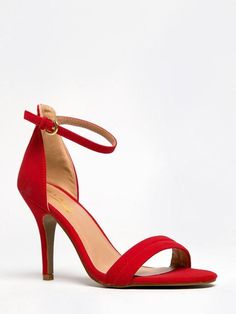 37a3946f4bd NEW GLAZE Women Sexy Hot Ankle Strap Low Kitten High Heel Sandals sz Red  Willow2