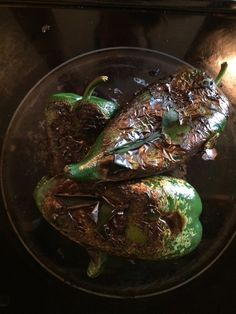 Figs and Chardonnay: Roasted Poblano Peppers