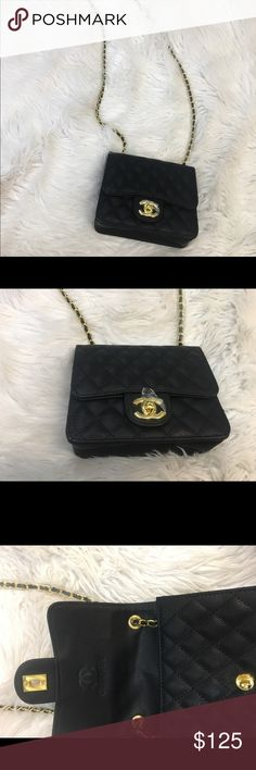 Chanel Body Bag Women's Black And Gold Top Quality Chanel Bag price reflects Bags