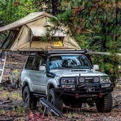Land Cruiser camp site - by crawlandhaul http:& Toyota 4x4, Toyota Trucks, Toyota 4runner, Land Cruiser Fj80, Toyota Land Cruiser 100, Landcruiser 80 Series, Carros Toyota, Patrol Gr, Overland Truck
