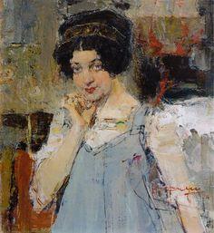 Портрет жены архитектора Сидорченко (1915). Николай Фешин