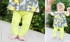 make your own leggings for baby :-) LOVE I will use this for sure! and learn to make tunics to make complete one of a kind outfits for my girly!~