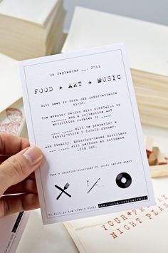 guerrilla marketing idea : invitations with blank spots, have to visit URL at bottom of invite to fill in the blanks