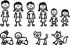 Stick-Figure-Family-Decals-Car-Window-Stickers-Vinyl.jpg (1600×1031)