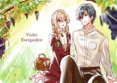 Violet Evergarden Wallpaper, Violet Evergreen, Violet Evergarden Anime, Couple Illustration, Pokemon, Landscape, Couples, Drawings, Hipster Stuff