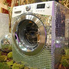 Máquina de Lavar Espelhada - Dicas Para Artesanato
