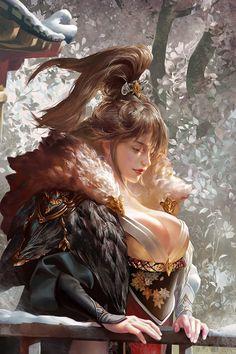 Chica Fantasy, Fantasy Rpg, Fantasy Warrior, Fantasy Women, Fantasy Artwork, Fantasy Girl, Character Design, Character Art, Digital Art