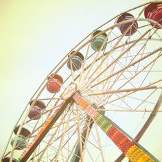 ferris wheel photo whimsical carnival photo nursery decor for girls beige peach golden yellow paster pink teal purple by nancyfphotos on etsy, $25.