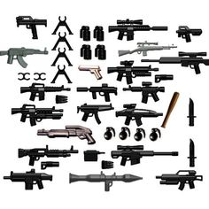 BrickArms Custom 42 Piece Set 2.5″ Scale Weapons Pack