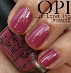 OPI Just Lanai-ing Around Nail Polish Swatches // Hawaii Collection for Spring 2015