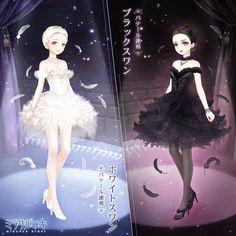 Swan Lake- Odette the White Swan and Odile the Black Swan in Anime style Anime Dancer, Ballerina Girl, Character Design, Anime Inspired, Fantasy Heroes, Swan Lake, Anime, Roleplay Characters, Anime Outfits