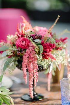 Lovely...use any flower....Amaranthus Centerpiece
