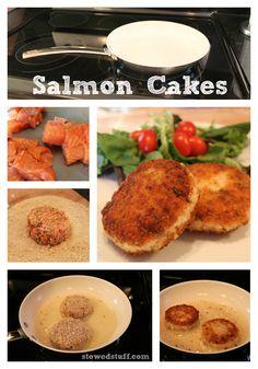 Salmon Cakes #salmon #dinner #fish #recipes by stowedstuff.com