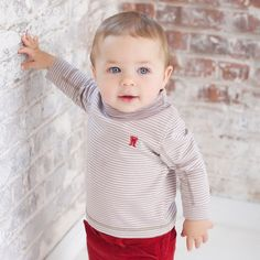 Striped Cotton Sweater | Dave Bella Kids Clothes