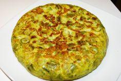 Tortilla de habas. www.cocinaenblanco.com