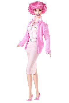 barbie grease frenchy vestido rosa raridade - no brasil!
