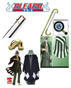 """Kisuke Urahara aka Mr. Hats and Clogs cosplay"" by hadespirit22 ❤ liked on Polyvore featuring men's fashion and menswear"