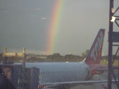 Arco Iris enquanto espero meu voo - Brasília