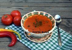 Supa de rosii cu orez, reteta simpla Cantaloupe, Easy Meals, Cooking Recipes, Pudding, Desserts, Mai, Soups, Tailgate Desserts, Deserts