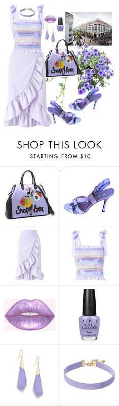 """Shopping Date"" by babygirltrice ❤ liked on Polyvore featuring David Chipperfield, Tua, Brian Atwood, Miss Selfridge, Petersyn, Alexis Bittar and Vanessa Mooney"
