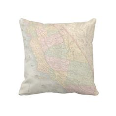 California Map Pillow