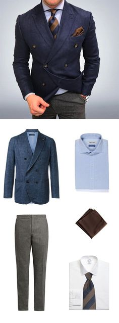 Shop this midwinter menswear look that combines great fabrics and masculine colors. #menssuit
