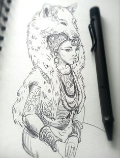 Queen of the Wolf Tribe by JowieL