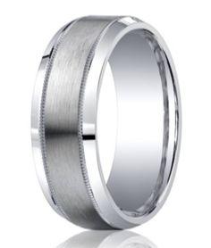 Benchmark Argentium Silver Wedding Band | Milgrain Edge